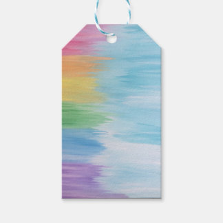 Etiquetas Para Regalos Arco iris abstracto