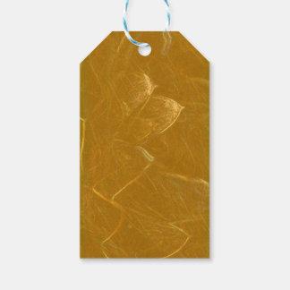 Etiquetas Para Regalos Arte artístico DE ORO de la hoja de oro de LOTUS