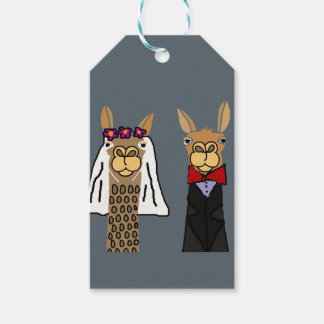 Etiquetas Para Regalos Arte divertido del boda de novia y del novio de la