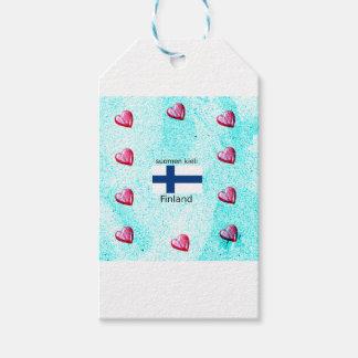 Etiquetas Para Regalos Bandera de Finlandia y diseño finlandés de la