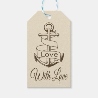 Etiquetas Para Regalos Banquete de boda náutico del amor del ancla de la