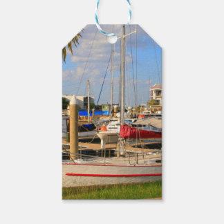 Etiquetas Para Regalos Barcos en el puerto deportivo, Darwin, Australia