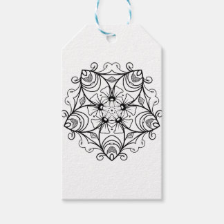 Etiquetas Para Regalos Black-And-White-Floral-Design-2