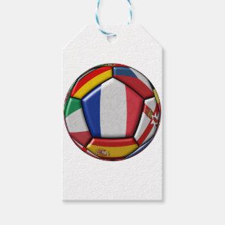Etiquetas Para Regalos Bola con las diversas banderas