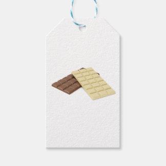 Etiquetas Para Regalos Brown y barras de chocolate blancas