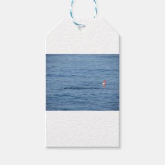 Etiquetas Para Regalos Buceador del mar en nadada del juego del equipo de