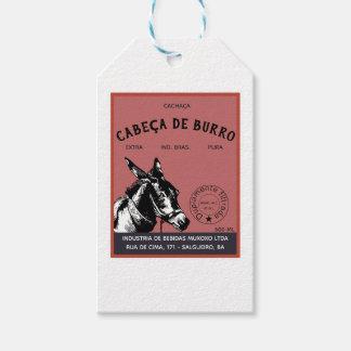 Etiquetas Para Regalos Cabeza del burro de Cachaça