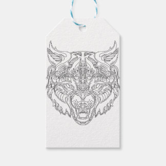 Etiquetas Para Regalos cabeza del lobo