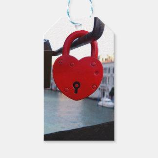 Etiquetas Para Regalos cerradura del amor en Venecia