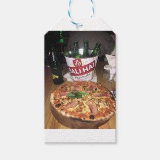Etiquetas Para Regalos Cerveza y pizza de Bali