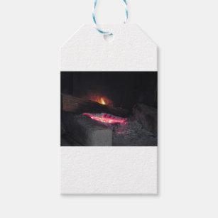 Etiquetas Para Regalos Chapiteles del calor de la llama del fuego de