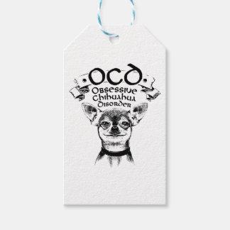Etiquetas Para Regalos Chihuahua obsesiva de OCD