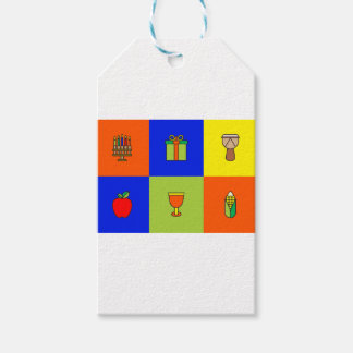 Etiquetas Para Regalos colorblock de Kwanzaa