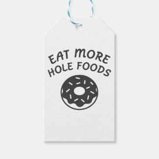 Etiquetas Para Regalos Coma más comidas del agujero