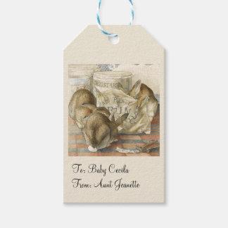 Etiquetas Para Regalos Conejos de conejito del navidad personalizados