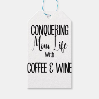 Etiquetas Para Regalos Conquista de MomLife en el café y el vino