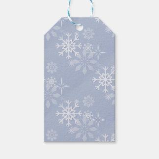 Etiquetas Para Regalos Copos de nieve