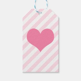 Etiquetas Para Regalos Corazón rosa claro