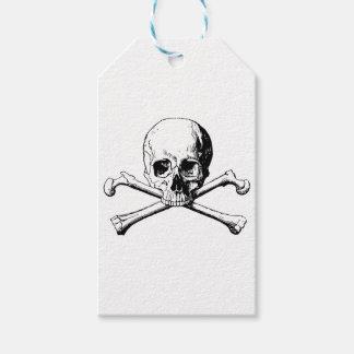 Etiquetas Para Regalos Cráneo de la bandera pirata