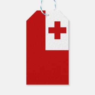 Etiquetas Para Regalos Cruz Roja de la bandera de la isla de Tonga