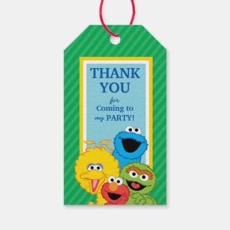 Etiquetas Para Regalos Cumpleaños de los Pals del Sesame Street