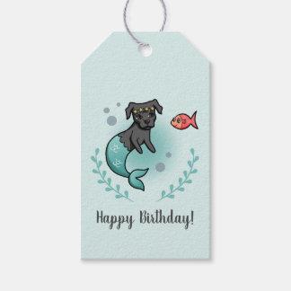Etiquetas Para Regalos Cumpleaños del pitbull de la sirena
