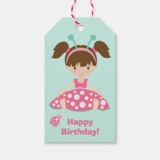 Etiquetas Para Regalos Cumpleaños lindo de los chicas de la mariquita