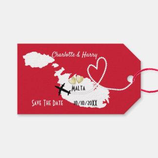 Etiquetas Para Regalos De los bodas reserva de Malta en el extranjero la