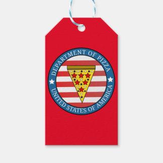 Etiquetas Para Regalos Departamento de pizza