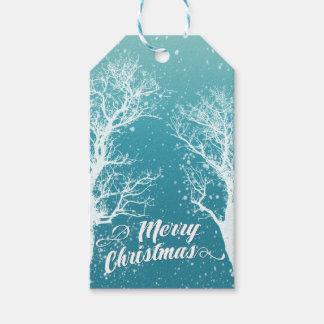 Etiquetas Para Regalos Día de fiesta de las Felices Navidad del invierno