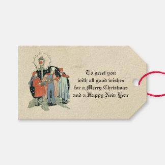 Etiquetas Para Regalos Día de fiesta de los Carolers del navidad del