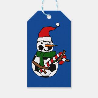 Etiquetas Para Regalos Dibujo animado divertido del navidad del muñeco de