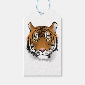 Etiquetas Para Regalos Diseño de la impresión de la cabeza del tigre