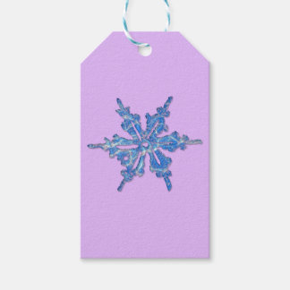 Etiquetas Para Regalos Diseño del copo de nieve del invierno para Navidad