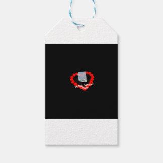 Etiquetas Para Regalos Diseño del corazón de la vela para el estado de
