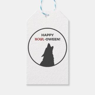 Etiquetas Para Regalos Diseño feliz de Halloween del hombre lobo del