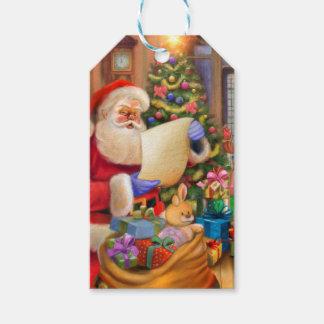Etiquetas Para Regalos Diseño lindo del día de fiesta de Santa con los