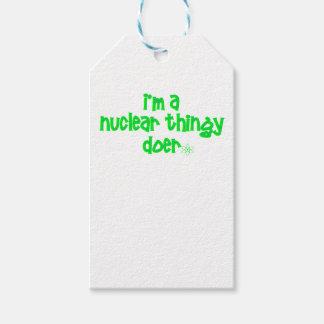 Etiquetas Para Regalos Diseño nuclear original