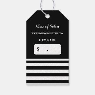 Etiquetas Para Regalos El blanco negro de moda raya precios del salón de