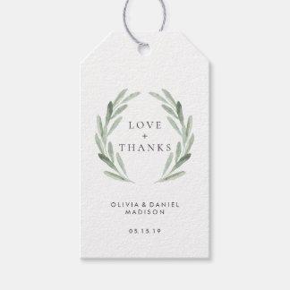 Etiquetas Para Regalos El boda elegante de la guirnalda verde rústica le