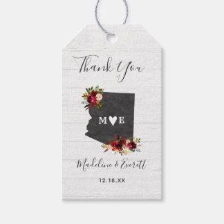 Etiquetas Para Regalos El boda rústico del destino del estado de Arizona