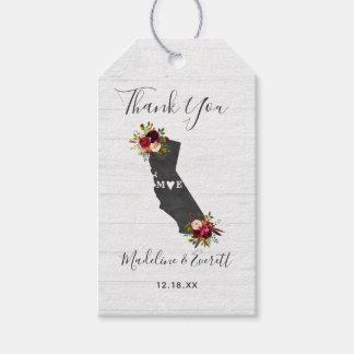 Etiquetas Para Regalos El boda rústico floral del estado de California le