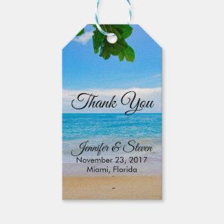 Etiquetas Para Regalos El boda tropical de la isla de las vacaciones de