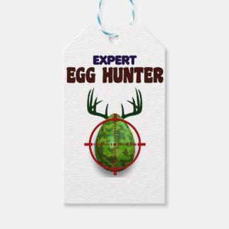 Etiquetas Para Regalos El cazador experto de Pascua, ciervo del huevo