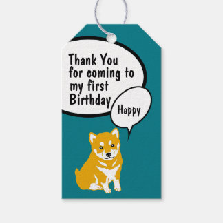 Etiquetas Para Regalos El cumpleaños del año 2018 del perro de Shiba le