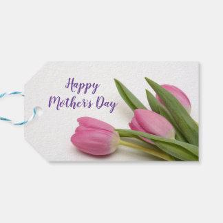 Etiquetas Para Regalos El día de madre feliz de encargo con los tulipanes