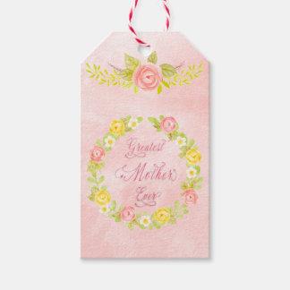 Etiquetas Para Regalos El día de madre - rosas bonitos de la acuarela 2