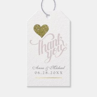 Etiquetas Para Regalos el falso corazón del oro del amor, gracias casa