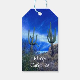 Etiquetas Para Regalos El navidad del Saguaro de Arizona personalizó la