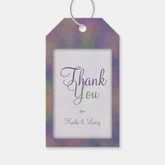 Etiquetas Para Regalos El oro verde magenta púrpura le agradece